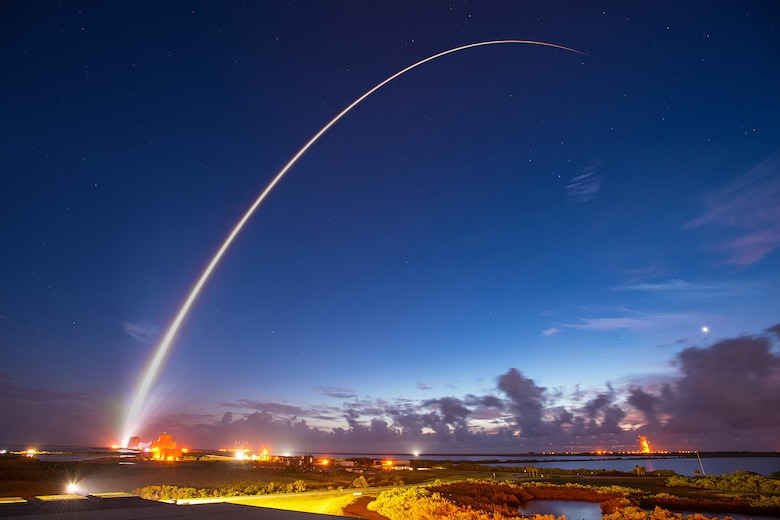 An Atlas V rocket carrying the MUOS-4 satellite  lifts off from Cape Canaveral AFS' Space Launch Complex 41 at 6:18 a.m., Sept 2. (Photo courtesy of ULA)