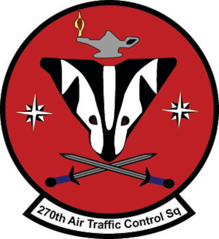 Pictured is the patch for the 270th Air Traffic Control Squadron which has been a part of the Oregon Headquarters Combat Operations Group.  As of Oct. 1, 2015 the 270th ATCS will now fall under the 173rd Fighter Wing Operations Group as part of a realignment to bring all of the COG under the two state fighter Wings.
