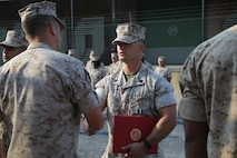 U.S. Marine Corps Staff Sgt. Daeton Shafer, a native of San Juan, New Mexico, and 2003 graduate of Aztec High School in Aztec, New Mexico, recently received the Navy and Marine Corps Commendation Medal for service with 3rd Marine Special Operations Battalion. The award is given to individuals who distinguish themselves by heroic or meritorious achievement for service while serving with the Navy or Marine Corps. Shaver received the award for playing a vital role in his battalions integration of global combat support for deployed Marines. Shafer currently serves as the 4th Marine Corps District Supply Chief at the Defense Distribution Center Susquehanna in New Cumberland, Pennsylvania. As supply chief, Shafer accounts for and maintains all equipment and assets which is an estimated six million dollars for the entire District, as well as purchases equipment for 4th MCD. Shafer enlisted in the Marine Corps July 2003. He has been stationed at Camp Pendleton, California; Marine Corps Recruit Depot San Diego; Okinawa, Japan; Camp Lejeune, North Carolina; New Cumberland, Pennsylvania, and he has also deployed to Iraq in support of Operation Iraqi Freedom.  His awards include the Navy and Marine Corps Commendation Medal, Navy and Marine Corps Achievement Medal, four Marine Corps Good Conduct Medals, the National Defense Service Medal, two Iraq Campaign Medals, the Global War on Terrorism Service Medal and three Sea Service Deployment Ribbons.