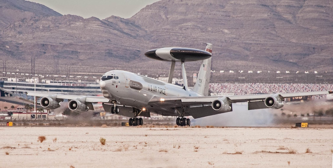 Members of the 552nd Air Control Wing from Tinker Air Force Base, Okla., recently participated in Red Flag 15-3 at Nellis AFB, Nevada, where they used the Block 40/45 computer system upgrade for the first time in a simulated combat environment. (Air Force photo/Released)