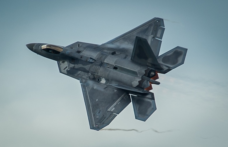 An F-22 Raptor takes off from Amari Air Base, Estonia, Sept. 4, 2015. The F-22s have previously deployed to both the Pacific and Southwest Asia for Airmen to train in a realistic environment while testing partner nations' ability to host advanced aircraft like the F-22. The F-22s are deployed from the 95th Fighter Squadron at Tyndall Air Force Base, Fla. (U.S. Air Force photo/Tech. Sgt. Ryan Crane)