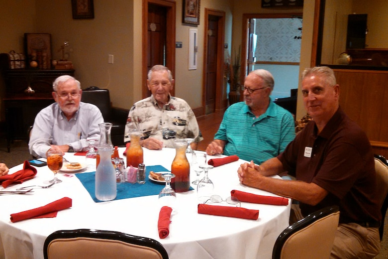 Retirees from the South Carolina Air National Guard, McEntire Joint National Guard Base, gather for their monthly Retiree's Luncheon at the Fort Jackson NCO club, Sept. 1, 2015. (U.S. Air National Guard courtesy photo/RELEASED)