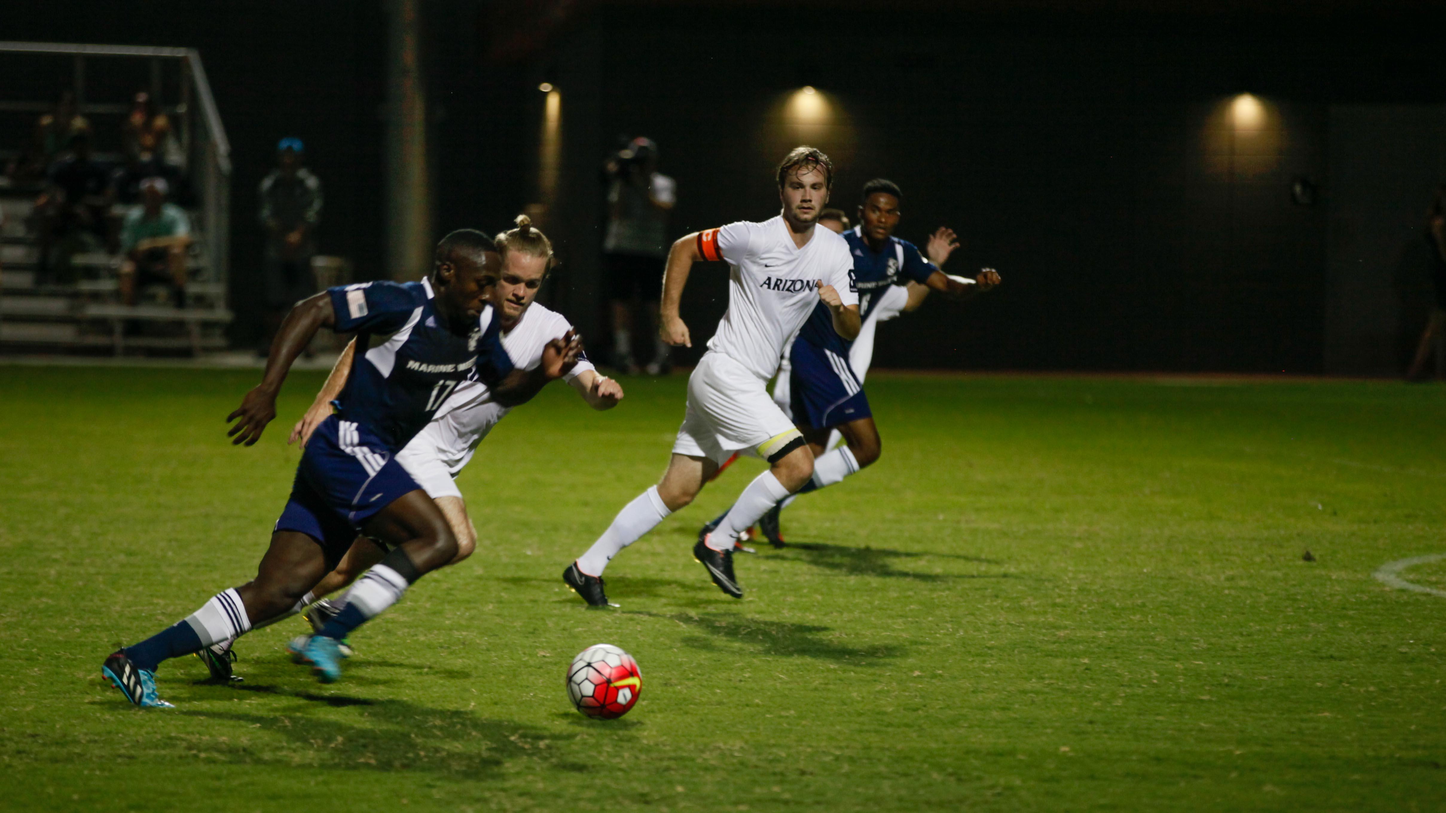 Marine Soccer Team kicks off Marine Week with soccer match ...