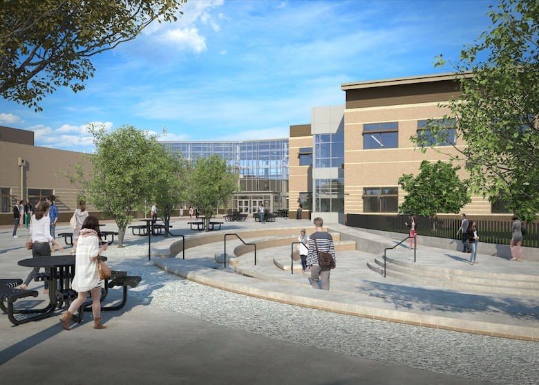 Rendering of the new Fort Campbell High School project in Kentucky.