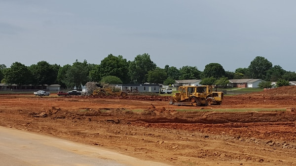 Construction is now underway on the new Ft. Campbell High School project in Kentucky. The new 184,000 square-foot school is being constructed to make room for more than 800 students who will fill its halls in the 2017-2018 school year.