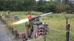 Sgt. Sugimoto Yoshitaka fires the Type 01 LMAT Anti-Tank Missile System during Forest Light 16-1 at Camp Imazu, Takashima, Japan, Sept. 7, 2015. The Japan Ground Self-Defense Force and U.S. Marines shared knowledge about different anti-tank missile systems. After giving specifications of their respective weapon systems, the two forces used practice rounds to demonstrate how well the weapon systems work. Forest Light will take place Sept. 7-18 with approximately 240 Marines working next to 350 JGSDF members. The exercise will consist of mortar live fire, establishing forward arming and refueling points training, helicopter borne skills and combined arms procedures. Sugimoto is an anti-tank missile man with 50th infantry regiment, 14th Brigade.