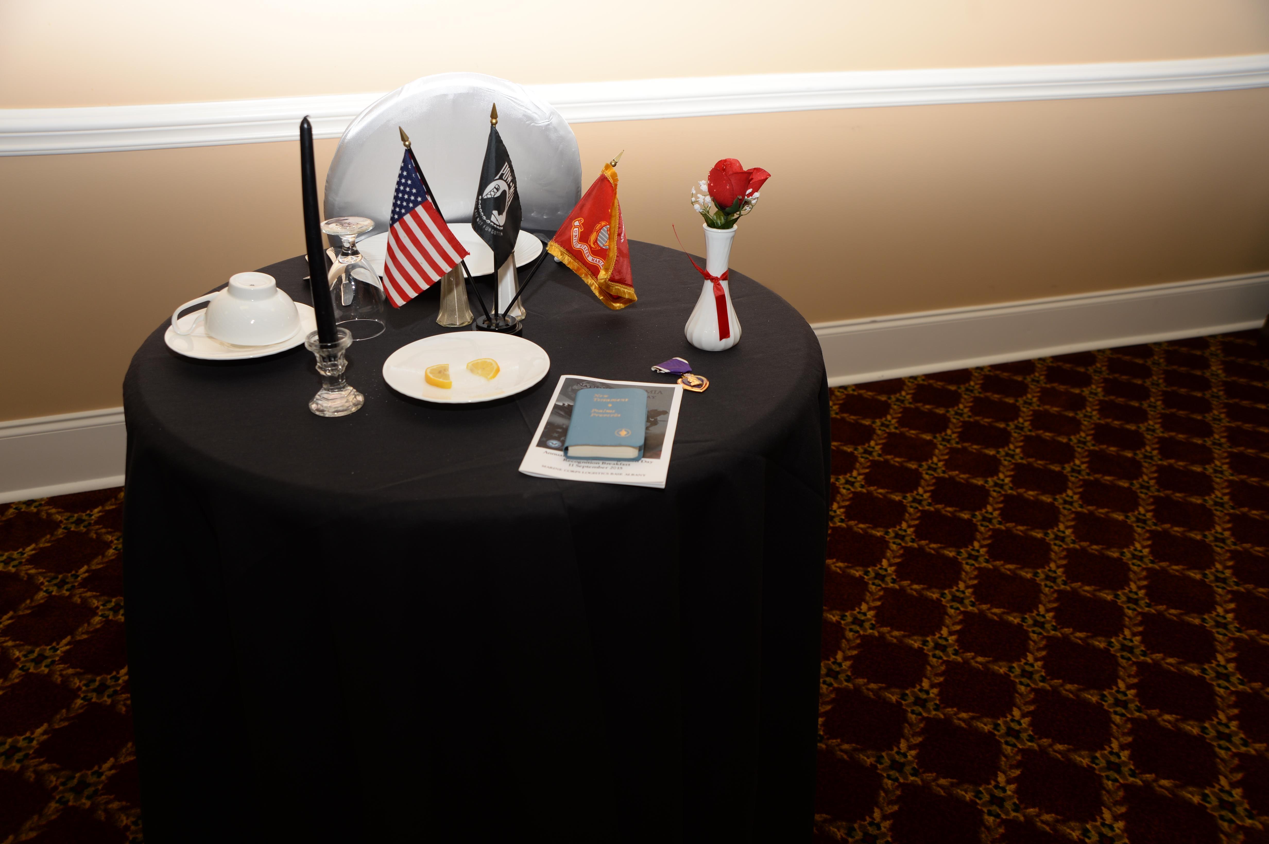 Download Hi-Res Photo ... & POW-MIA ceremony marks sad benchmark u003e Marine Corps Logistics Base ...