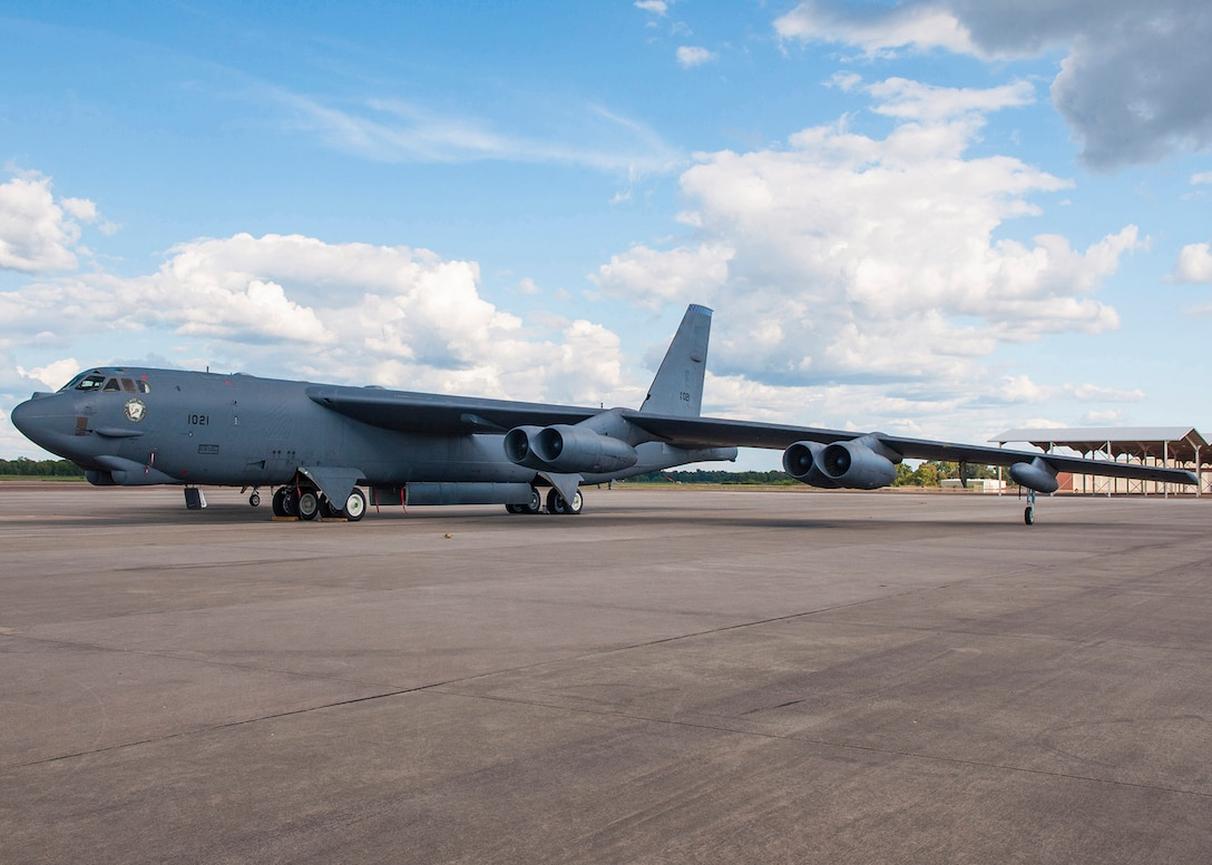 A B-52H Stratofortress assigned to the Air Force Reserve Command's 307th Bomb Wing is the first B-52H bomber to be converted as part of the New START Treaty. U.S. efforts to support the treaty include the conversion of 30 operational and 12 non-operational B-52s to a conventional-only configuration across the Air Force that will be completed by early 2017. (U.S. Air Force photo/Master Sgt. Dachelle Melville)