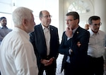 Defense Secretary Ash Carter and Israel's Minister of Defense Moshe Yaalon speak before a dinner meeting in Tel Aviv, July 20, 2015. DoD photo by U.S. Army Sgt. 1st Class Clydell Kinchen