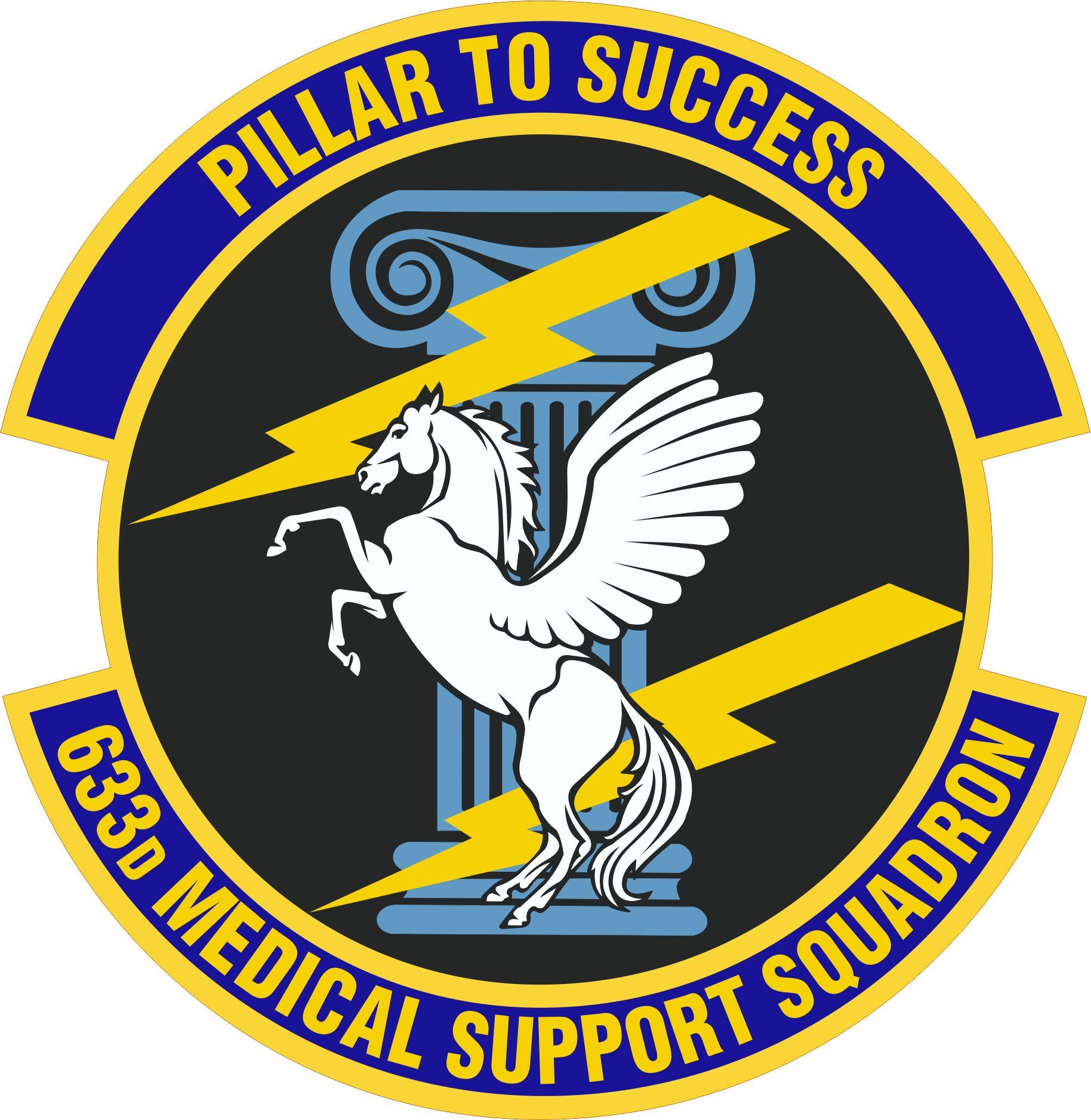 633 Medical Support Squadron Emblem