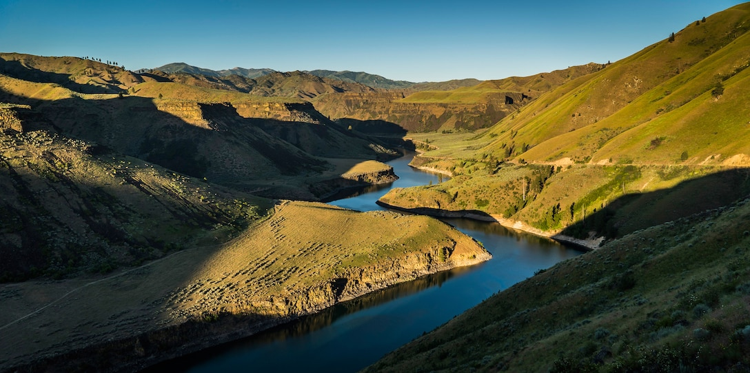The South Fork Boise River winds through a canyon in the foothills of the Sawtooth Mountain Range, Idaho, June 13, 2015. The canyon, Arrowrock Reservoir and Anderson Reservoir are a few of the natural features created by the river. (Courtesy photo by Samuel Morse)