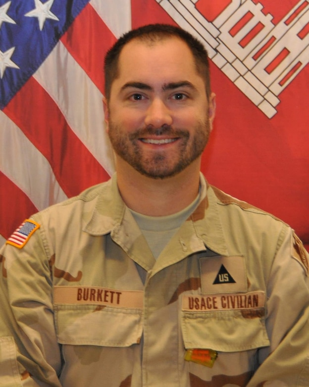 """""""Of all my experiences so far, the most demanding but rewarding time I have spent with the Corps of Engineers was when I was serving as project manager in Afghanistan with the USACE Trans-Atlantic Division,"""" said Matthew Burkett."""