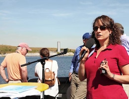 Jennifer Nersesian, Superintendant, Gateway National Recreation Area while in Jamaica Bay during a Harbor Inspection held in September 2015 speaks about Gateway, marsh islands restoration and  the significance of beach nourishment and the positive impact on the region's shorelines during the summer season.