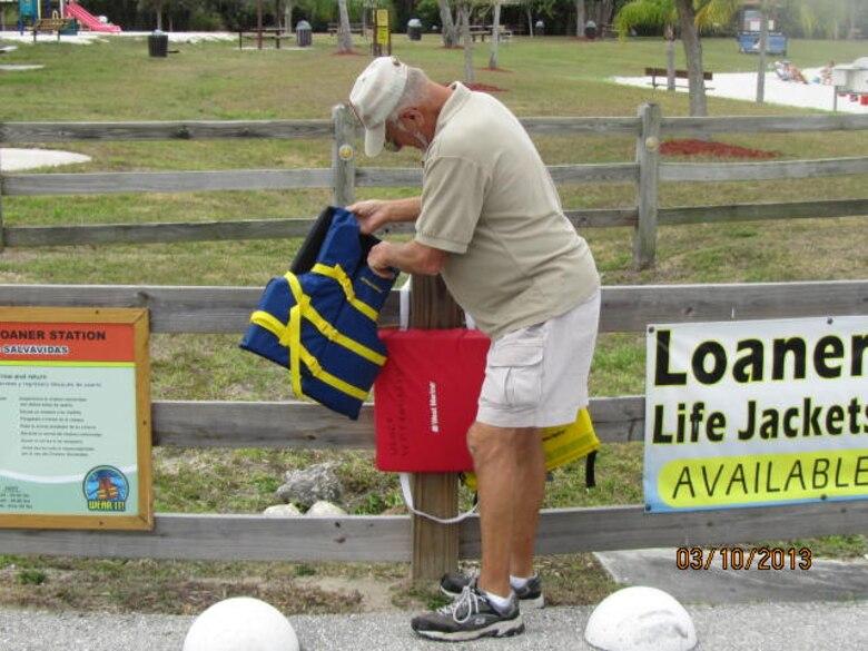 W.P. Franklin life jacket loaner station