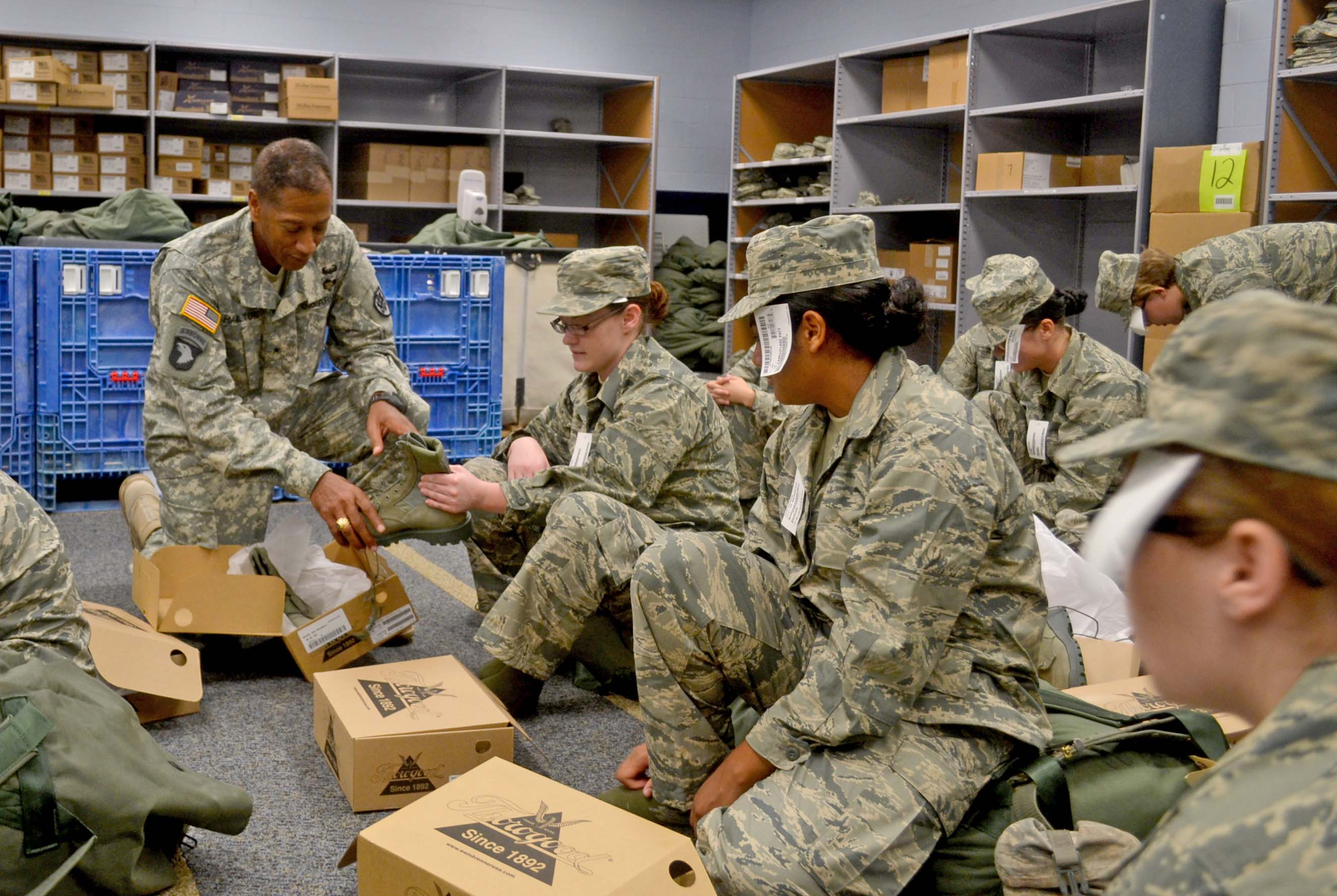 Troop Support Commander Sizes Up Recruits At Lackland AFB