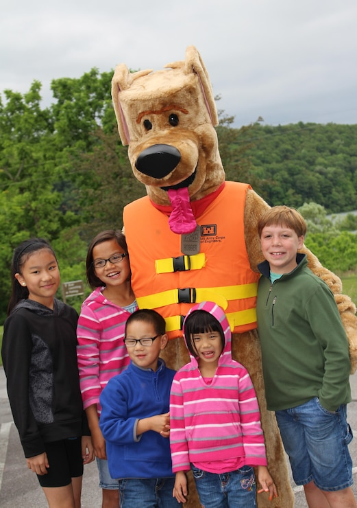 Bobber the Water Safety Dog and water safety games can occur unannounced.  Keep an eye out for the fun when visiting the Beach!