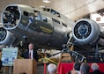 DAYTON, Ohio --  Henry Skipper, president/CEO of the National Museum of the Mighty Eighth Air Force speaks about the pilot's instrument panel donation to the National Museum of the United States Air Force. (U.S. Air Force photo)