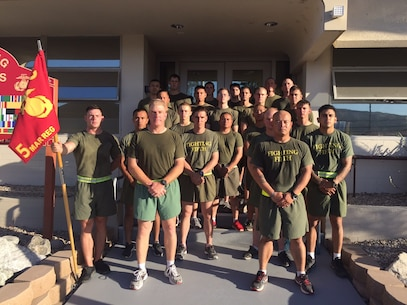Camp San Mateo-A group of selected Sergeants of the Fighting Fifth Marine Regiment participated in the Committed and Engaged Leaders Physical Training session.