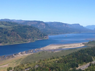 Looking east along the Columbia River Gorge from the Vista House along Historic U.S. Highway 30 in Oregon. The Columbia River Treaty, signed by Canada and the U.S. in 1961, was developed to coordinate flood control and optimize electrical energy production in the Columbia Basin.