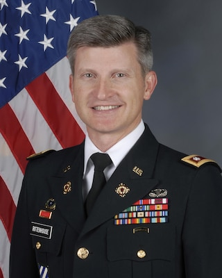 """Army Lt. Col. Michael """"Troy"""" Rittenhouse has been awarded the Defense Meritorious Service Medal for his achievements while serving as commander, Defense Logistics Agency Distribution Tobyhanna, Pa."""