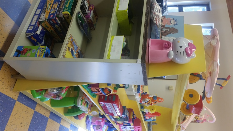 PETERSON AIR FORCE BASE, Colo. – A multitude of discounted games and toys are available to anyone with base access at the Thrift Shop. In addition to toys, the shop now includes infant and children's clothing. (U.S. Air Force photo by Lori O'Donley)