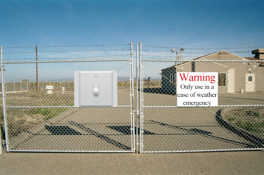 A visual representation of what a light switch looks like on a MAF gate. For clarification, there is no such switch on any gates. (File photo)