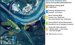 Mile Point Plan Map - Waterway Closures Mile Point Training Wall Relocation/Reconfiguration