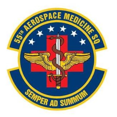 This is the official patch for the 55th Aerospace Medicine Squadron at Offutt Air Force Base, Neb.