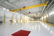 The 10-ton cranes in the 404th Aviation Support Battalion's Net Zero hangar support the maintenance of the 4th Combat Aviation Brigade's 113 helicopters, which include CH-47 Chinooks, UH-60 Blackhawks, OH-58 Kiowas and AH-64 Apaches.