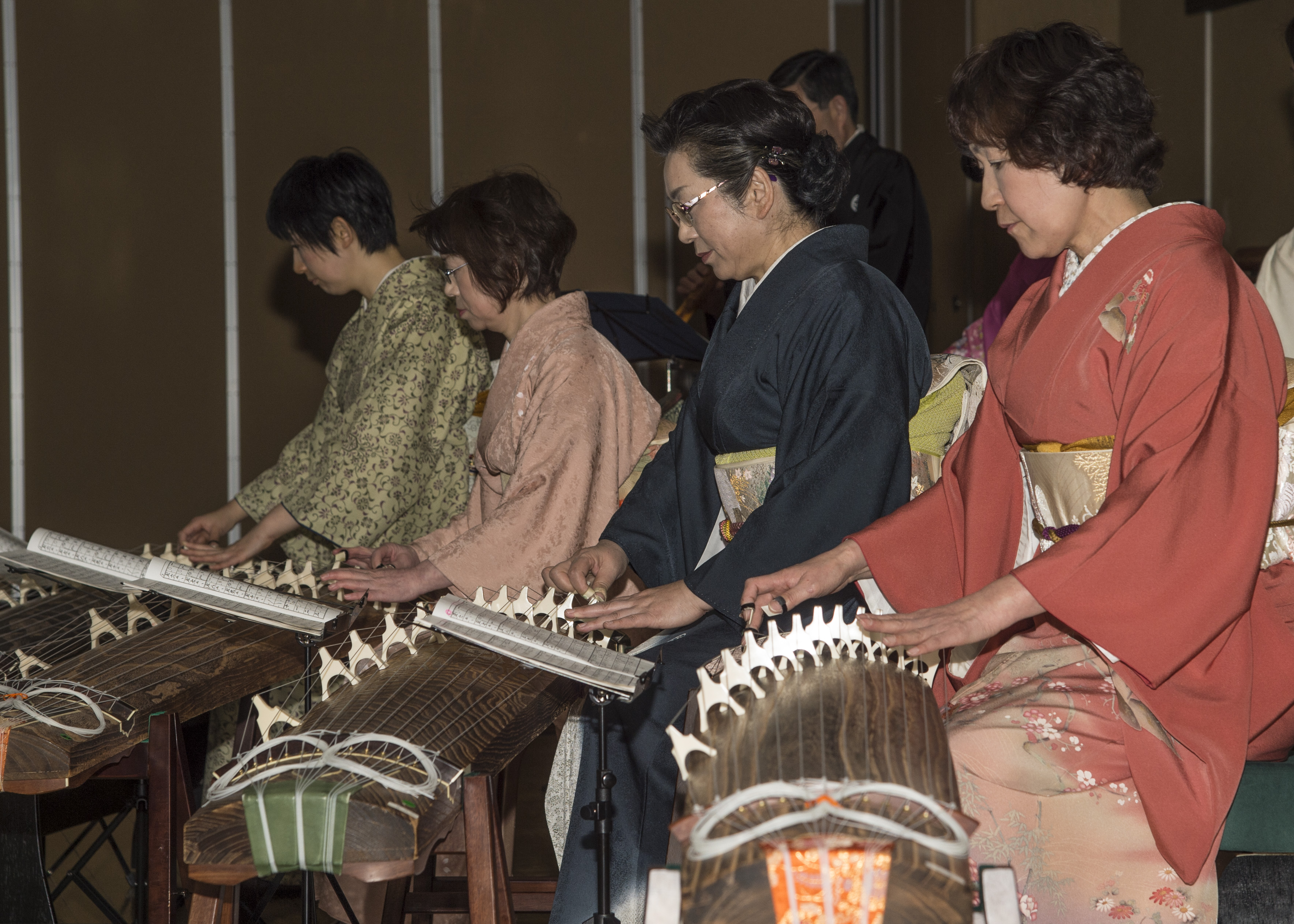 Performing traditional Japanese music