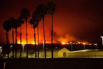 CAMP PENDLETON, Calif. - The Las Pulgas fire first reported at 3:15 p.m. Thursday has grown to 8,000 acres burned and 5% contained. Evacuation orders for Camp Las Pulgas, Camp Margarita, Camp Las Flores and 32 Area remain in effect. The Las Pulgas gate remains closed to all traffic except emergency vehicles. Stuart Mesa Road north of Assault Craft Unit-5 remains closed. Basilone Road from Marine Corps Air Station Camp Pendleton to Camp Horno, as well as Las Pulgas Road remain closed. Ammunition Road aboard Naval Weapons Station Fallbrook also remains closed.