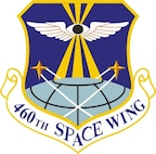 460th Space Wing emblem (Official USAF graphic)  In accordance with AFI 84-105, chapter 3, commercial reproduction of this emblem is NOT authorized without the approval of the organization's commander.
