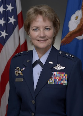 Maj. Gen. Mary Anne Miller's official photo.