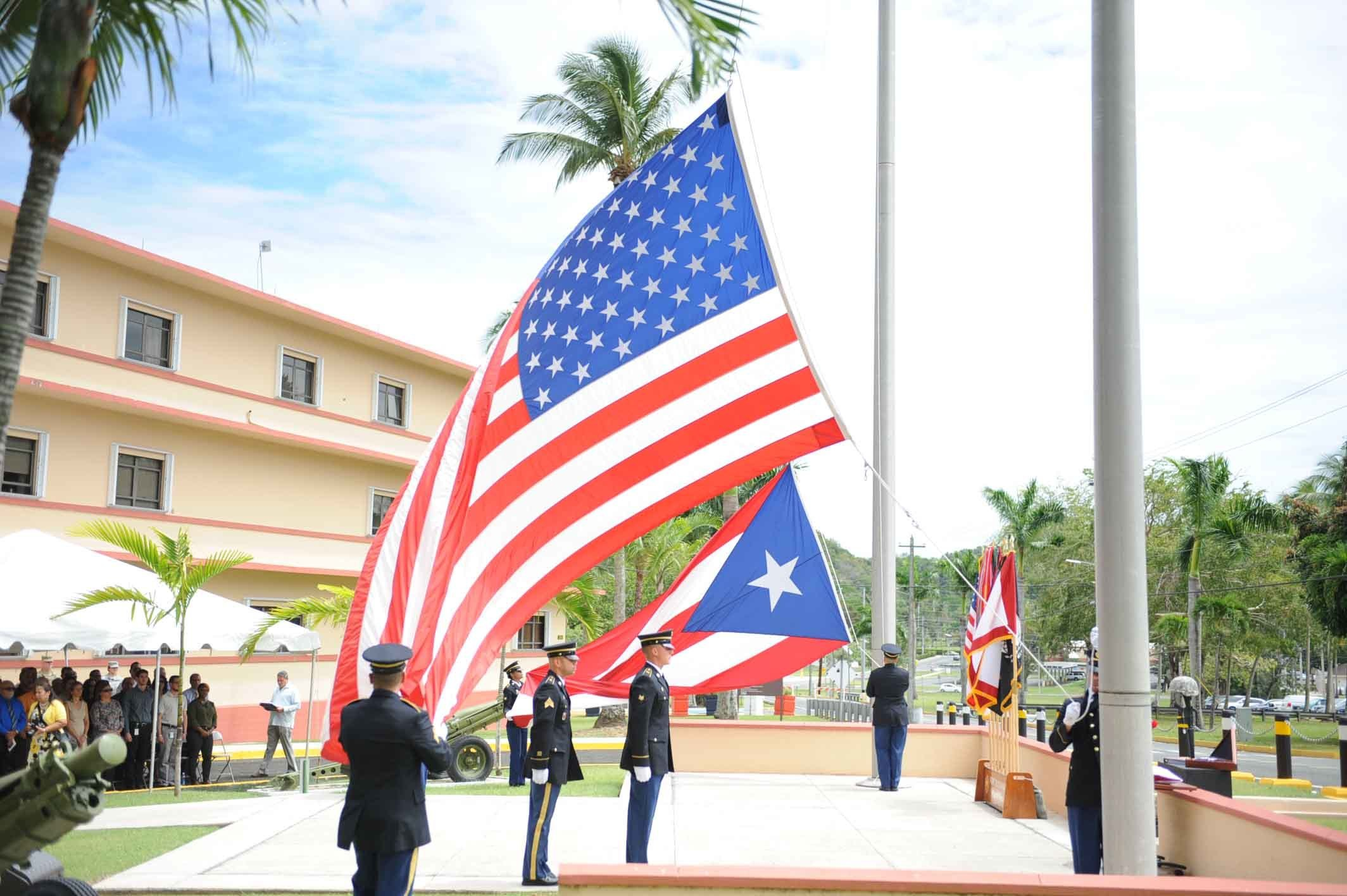 US and Puerto Rico Flags