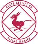 "Shield of the 815th Airlift Squadron ""The Flying Jennies"""