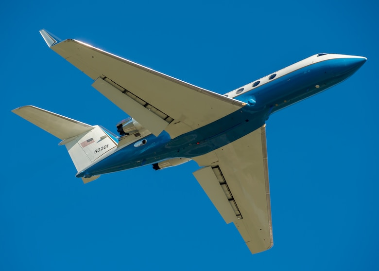 DAYTON, Ohio -- Gulfstream Aerospace C-20B at the National Museum of the United States Air Force. (U.S. Air Force photo by Jim Copes)