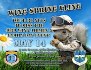 The 403rd Wing Spring Fling is May 14 from 10 a.m. to 4 p.m. at the Keesler Air Force Base Marina. (U.S. Air Force graphic)