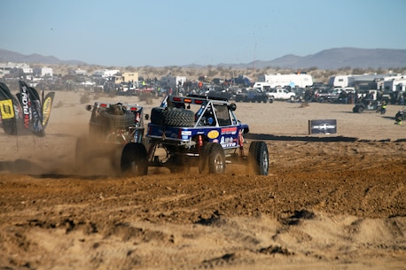 OHVs compete in the 2016 King of the Hammers race in Johnson Valley.