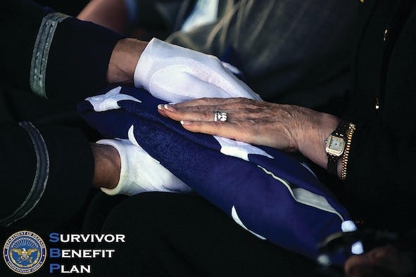 The Survivor Benefit Program provides no-cost automatic coverage to active duty and reserve component members who die of a service connected cause. In addition, active duty members can purchase coverage upon retirement and reserve component members can elect coverage when they have 20 years of qualifying service for reserve retired pay. (U.S. Air Force graphic by Senior Airman Jimmie D. Pike)