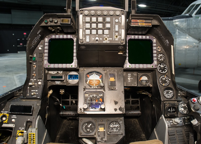 DAYTON, Ohio -- General Dynamics NF-16A AFTI cockpit view in the Research & Development Gallery at the National Museum of the United States Air Force. (U.S. Air Force photo by Ken LaRock)