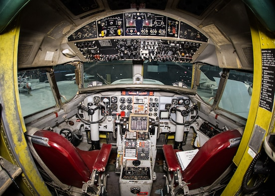DAYTON, Ohio -- Convair NC-131H Total In-Flight Simulator (TIFS) cockpit view in the Research & Development Gallery at the National Museum of the United States Air Force. (U.S. Air Force photo by Ken LaRock)
