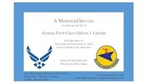 A1C Latham Memorial Invitation