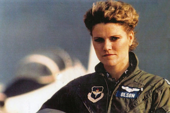 Retired Air Force Col. Kimberly Olson, pictured as a captain, helped to influence the change of Air Force policy to allow women the opportunity to pursue flight training during Officer Training School. After the change in policy, she became the first female pilot to attend undergraduate pilot training at Laughlin Air Force Base, Texas. (Courtesy Photo)