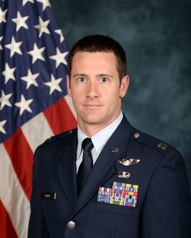 Capt. Nickolas Burke, a 14th Airlift Squadron evaluator pilot and chief of standards and evaluations, will be heading to Tel Aviv University, Israel, after being accepted to the Olmsted Scholarship Program, sponsored by the George and Carol Olmsted Foundation. (U.S. Air Force Official Photo)