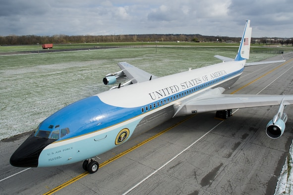 DAYTON, Ohio -- The VC-137C Air Force One (SAM 26000) at the National Museum of the United States Air Force on April 9, 2016. (U.S. Air Force photo by Ken LaRock)