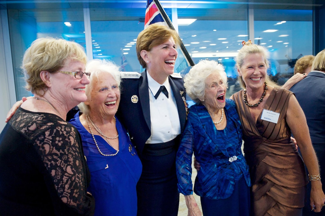 Gen. Lori Robinson, Pacific Air Forces commander, smiles with Royal New Zealand Air Force veterans who attended the 75 Years of Women in Service celebration at RNZAF Base Ohakea, New Zealand March 4, 2016. The base visit and her remarks at the celebration were part of Robinson's two-week visit to New Zealand and Australia, which served to improve relations with both nations and reaffirmed PACAF's commitment to the rebalance in the Pacific. (RNZAF courtesy photo)