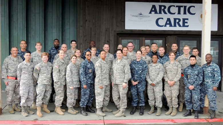 Innovative Readiness Training events like Arctic Care 2016 in Kodiak, Alaska, bring together service members from the Air Force, Army and Navy to improve their skills while addressing public needs. (Photo courtesy of HMC Ken Staatz, U.S. Navy Reserve)