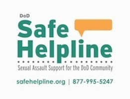 The Defense Department's Safe Helpline provides information and support to victims of sexual assault. DoD graphic