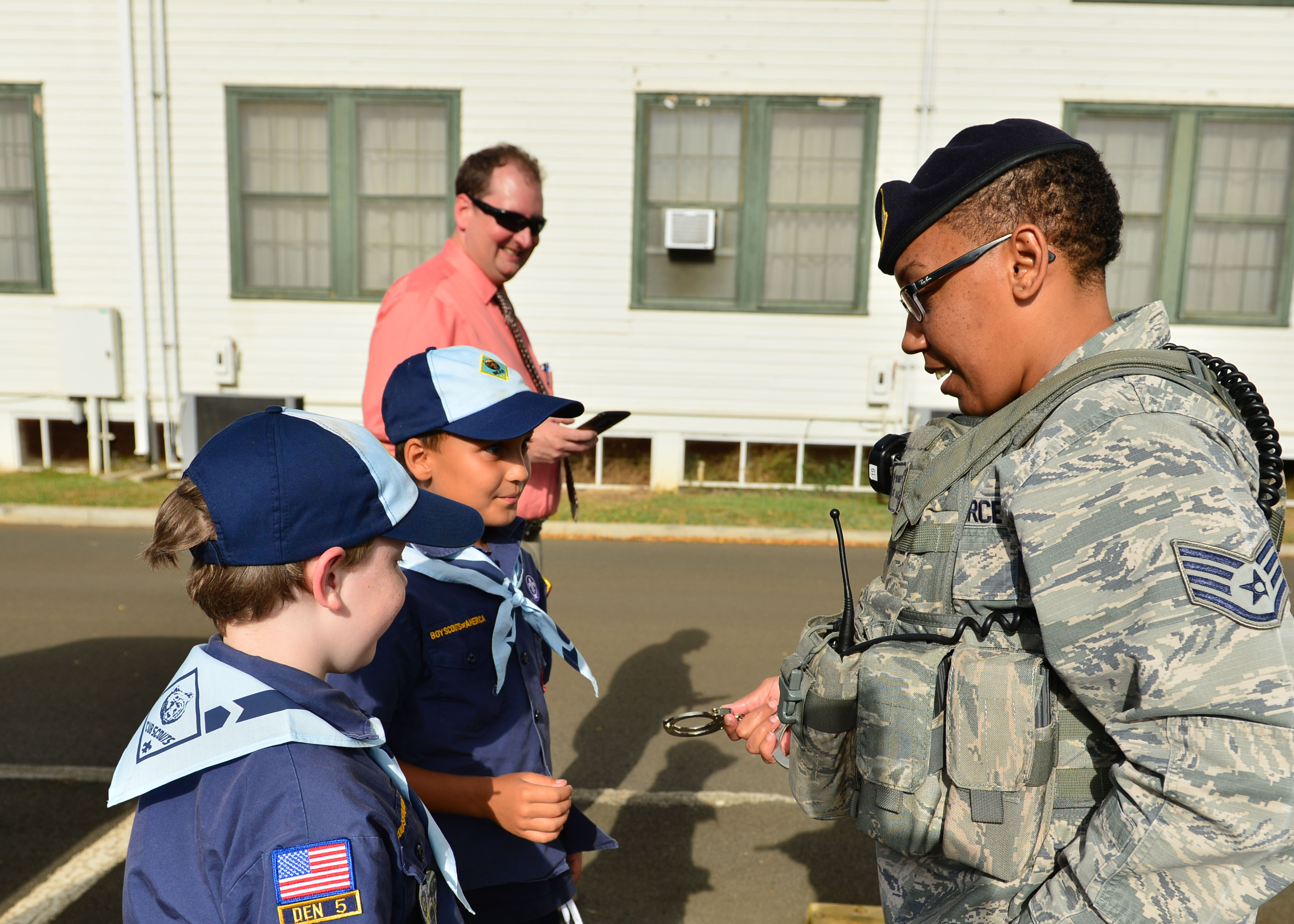 Cub Scouts Tour The 647th Security Forces Squadron