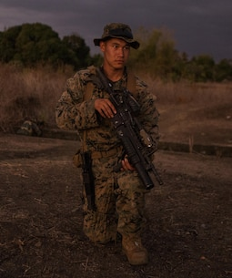 U.S. Marine Cpl. Kevin V. Phan and the Philippine Marines teach each other patrol techniques during Balikatan 16, Panay, Philippines, April 11, 2016. Phan, from Garden Grove, California, is assigned to 2nd Battalion, 2nd Marine Regiment, currently attached to 3rd Marine Division, III Marine Expeditionary Force.  Balikatan provides opportunities for U.S. and Philippine forces to learn from each other and train for potential real world crises, better preparing them to support the local population throughout the Indo-Asia-Pacific region. (U.S. Marine Corps photo by Lance Cpl. Jessica N. Etheridge/Released)